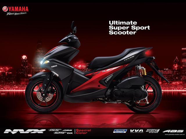 Yamaha NVX có thêm màu sơn mới, tặng thêm cặp phuộc dầu cho bản 155 phân khối - Ảnh 3.