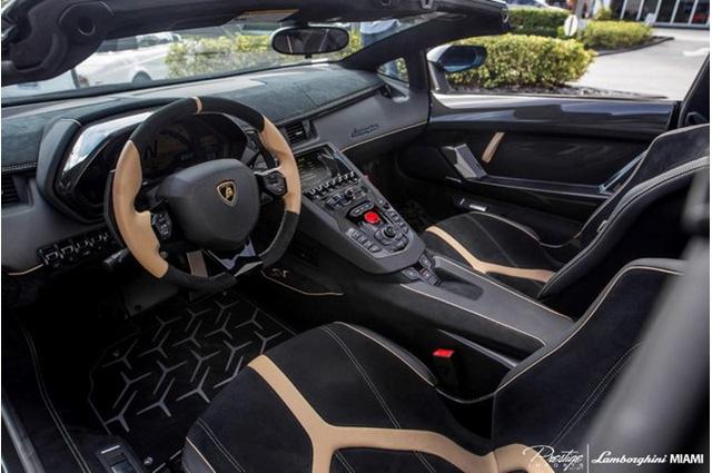 Vẻ đẹp siêu xe hàng hiếm Lamborghini Aventador SV Roadster màu vàng đồng - Ảnh 12.