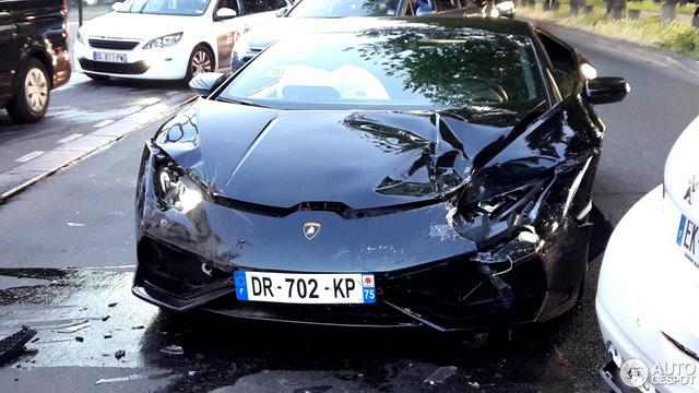 Siêu xe Lamborghini Huracan LP610-4 gặp nạn tại Pháp - Ảnh 4.
