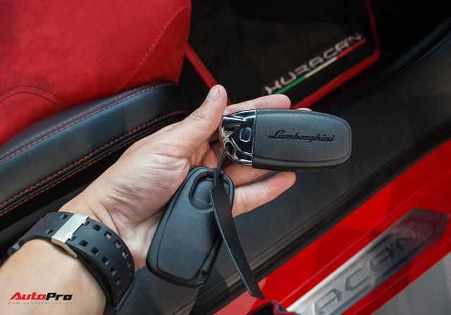 Diện kiến siêu xe Lamborghini Huracan LP610-4 màu độc nhất vừa về Việt Nam - Ảnh 25.