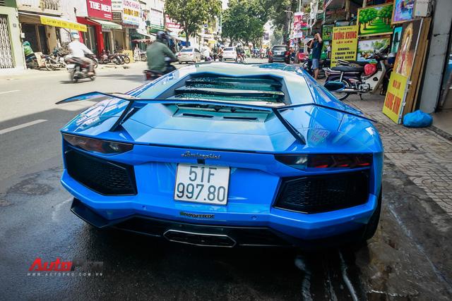 Siêu xe Lamborghini Aventador xanh dương độc nhất Việt Nam tái xuất - Ảnh 1.