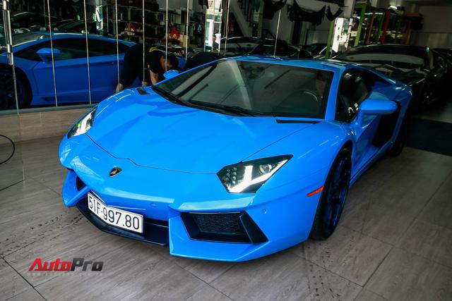 Siêu xe Lamborghini Aventador xanh dương độc nhất Việt Nam tái xuất - Ảnh 3.
