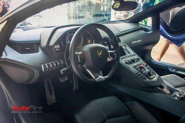 Siêu xe Lamborghini Aventador xanh dương độc nhất Việt Nam tái xuất - Ảnh 8.