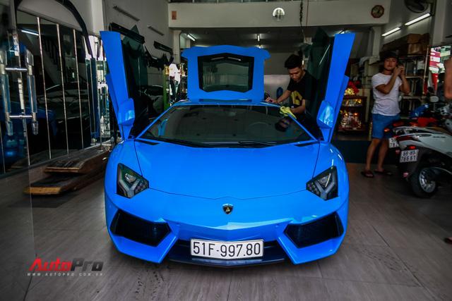 Siêu xe Lamborghini Aventador xanh dương độc nhất Việt Nam tái xuất - Ảnh 6.