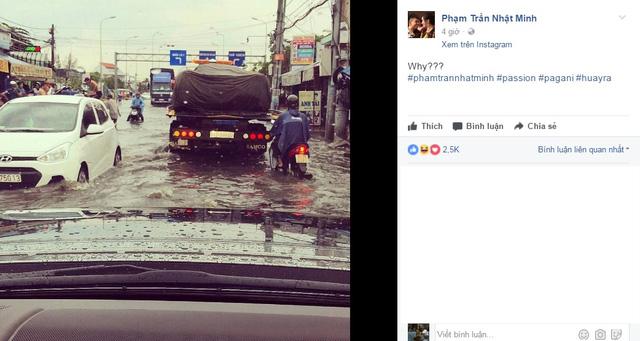 Pagani Huayra 78 tỷ Đồng của Minh Nhựa vượt nước lũ Sài thành trên xe chuyên dụng - Ảnh 1.