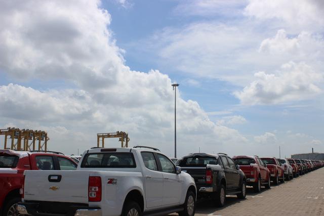Theo thuế giảm, ô tô ùn ùn nhập khẩu qua cảng TP.HCM - Ảnh 1.
