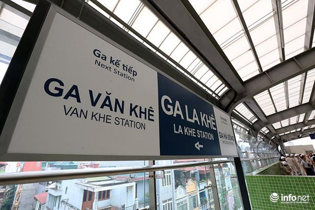 Những hình ảnh cận cảnh bên trong nhà ga La Khê chuẩn bị đưa vào hoạt động - Ảnh 2.