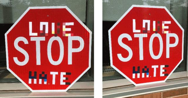 Xe tự lái chưa thể là phương tiện di chuyển an toàn khi có thể bị đánh lừa bời vài tấm nhãn dán - Ảnh 1.