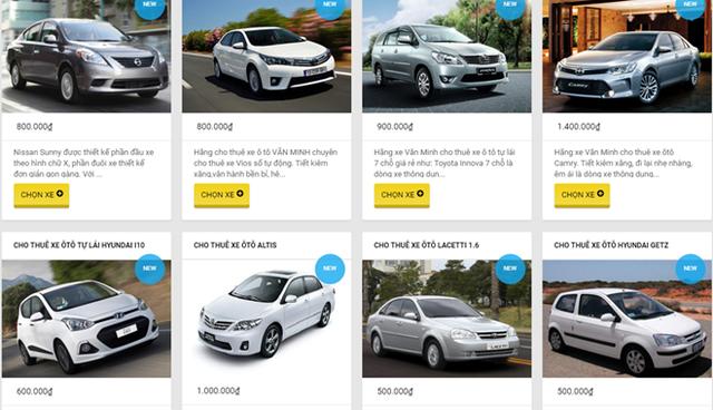 Sôi động thị trường cho thuê xe tự lái trên mạng dịp Tết - Ảnh 3.