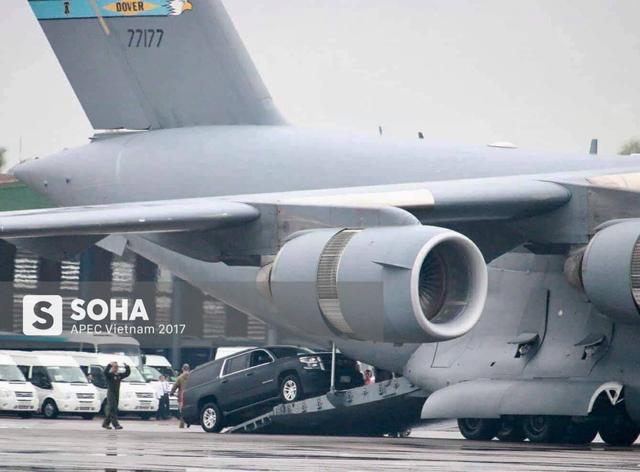 [NÓNG] Cadillac One The Beast cùng dàn xe phục vụ Tổng thống Trump tại APEC đổ bộ Đà Nẵng - Ảnh 5.