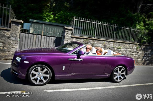 Xe mui trần Rolls-Royce Dawn dành cho người cuồng màu tím - Ảnh 2.