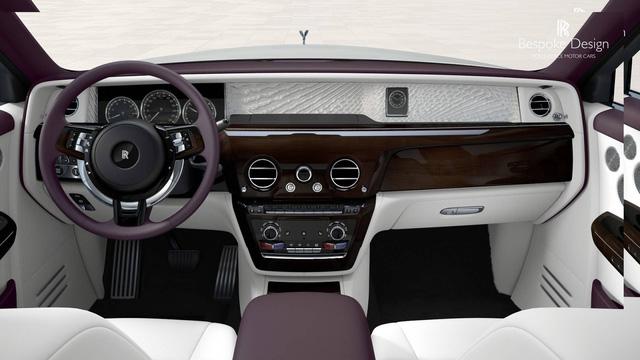 Rolls-Royce Phantom 2018 đầu tiên được đem đấu giá - Ảnh 3.
