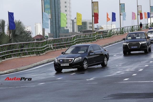 Xe Mercedes-Benz bọc thép của Tổng thống Hàn Quốc tại Đà Nẵng - Ảnh 1.