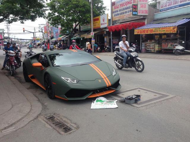 Lamborghini Huracan độ mâm bản giới hạn 273 triệu Đồng gắn biển số dưới lòng đường - Ảnh 1.