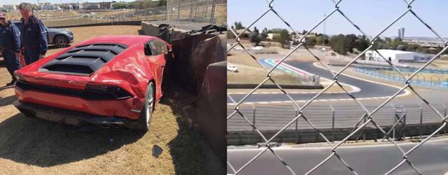 Lamborghini Huracan gặp nạn trong buổi tiệc tốc độ tại trường đua ở Nam Phi - Ảnh 2.
