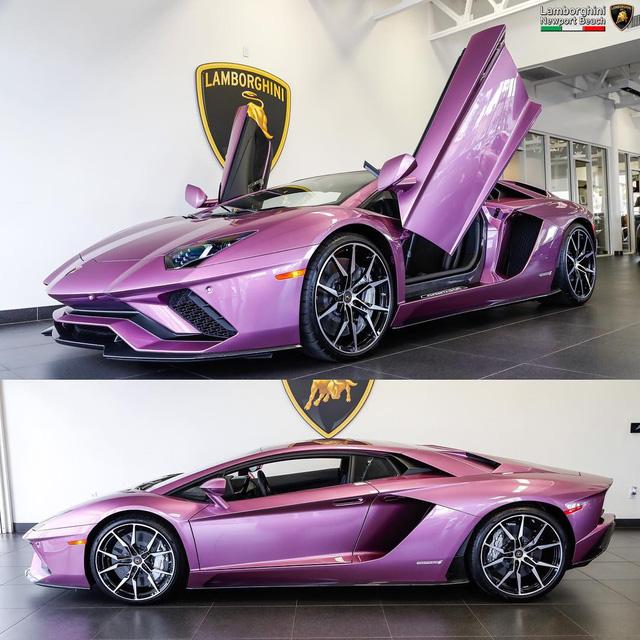 Ngất ngây với bộ áo tím trên siêu xe Lamborghini Aventador S LP740-4 - Ảnh 1.