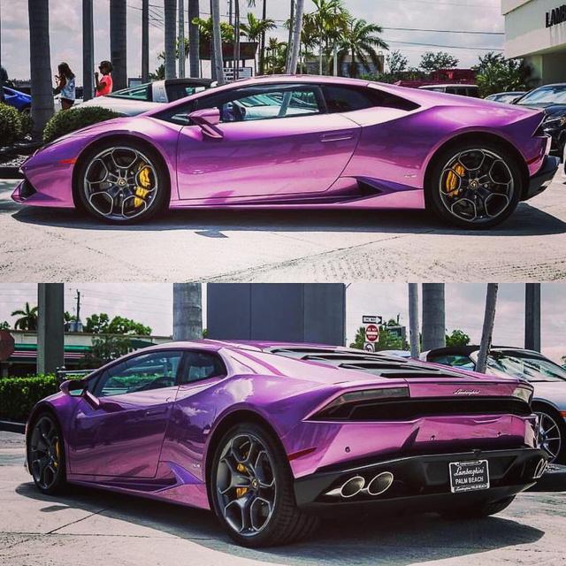 Ngất ngây với bộ áo tím trên siêu xe Lamborghini Aventador S LP740-4 - Ảnh 4.