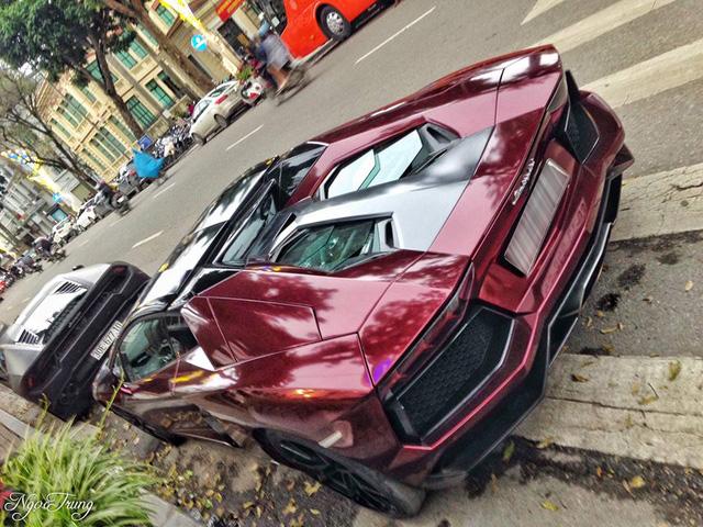 Thiếu gia 96 thay đổi màu sơn độc cho Lamborghini Aventador mui trần đầu tiên Việt Nam - Ảnh 4.