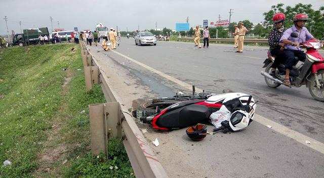 Bắc Ninh: Phóng nhanh trên phố, nam thanh niên chạy Yamaha Exciter 150 tử vong tại chỗ - Ảnh 1.