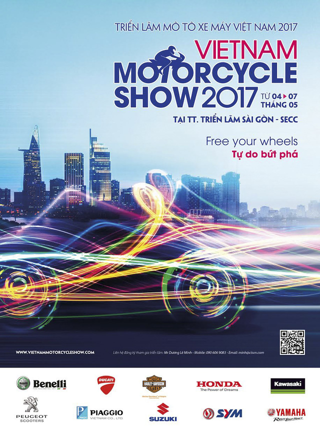Triển lãm mô tô xe máy Việt Nam 2017 sắp diễn ra với 10 thương hiệu - Ảnh 1.