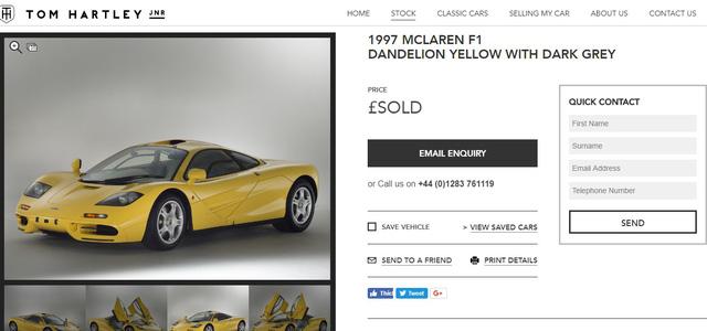 McLaren F1 siêu hiếm, khoang động cơ dát vàng đã tìm thấy chủ nhân, giá ước tính 454 tỷ Đồng - Ảnh 2.