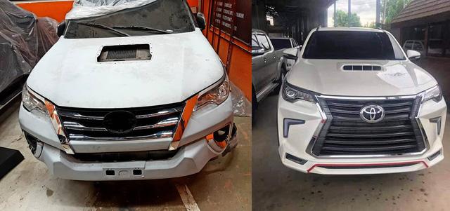 Dân chơi lột xác Toyota Hilux thành Fortuner bán tải, độ cả theo kiểu Lexus LX570 - Ảnh 1.