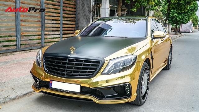 """Mercedes-Benz S400 độ Maybach S600 """"dát vàng"""" của thiếu gia 9X Việt"""