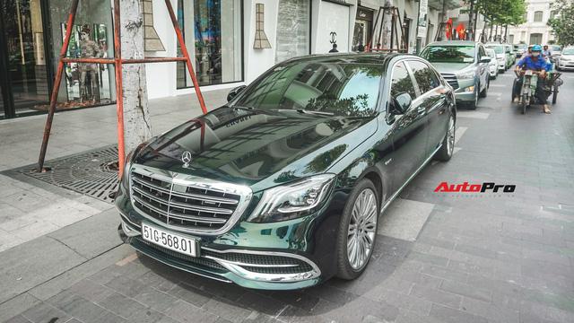 Chiếc Mercedes-Maybach S450 màu xanh diệp lục ngỡ song sinh với xế độc của ca sỹ Bích Phương