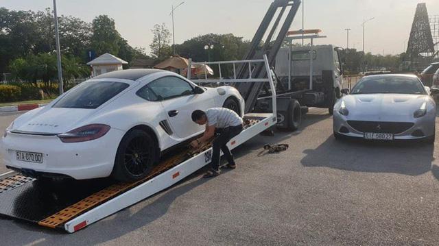 Siêu xe Ferrari California T hàng hiếm cùng Porsche Cayman của ông chủ cà phê Trung Nguyên bất ngờ được đưa đến Hà Nội - Hình 1