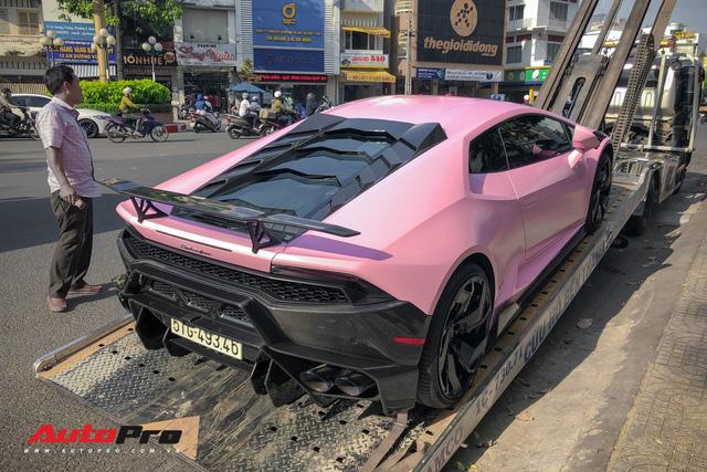 Lamborghini Huracan màu hồng nữ tính của đại gia Bạc Liêu - Ảnh 1.