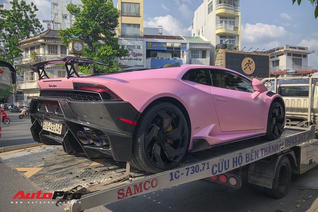 Lamborghini Huracan màu hồng nữ tính của đại gia Bạc Liêu - Ảnh 8.