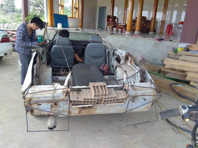 2 tháng hồi sinh Daewoo Cielo cũ nát thành xe thể thao mui trần hầm hố của 9X Việt - Ảnh 3.