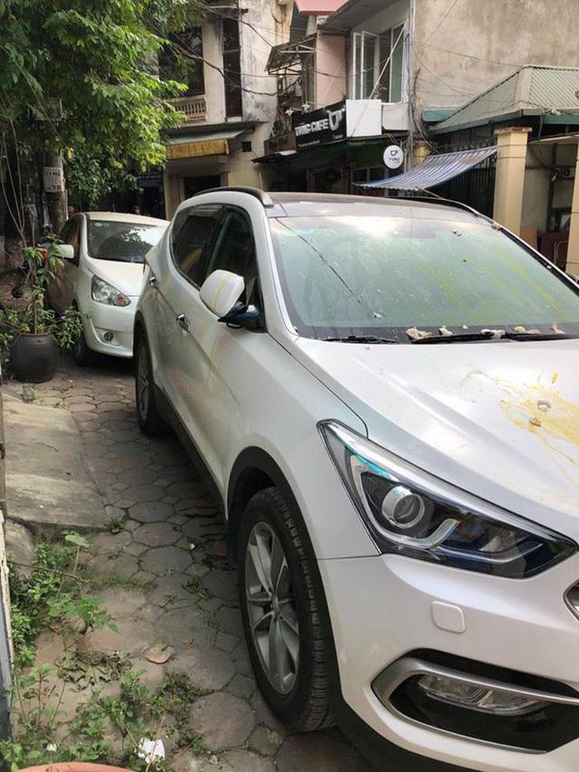 Đỗ thiếu ý thức, Hyundai Santa Fe ăn trọn trứng sống trên phố Hà Nội? - Ảnh 1.