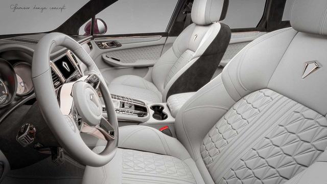 Nội thất vàng hồng cho dân chơi iPhone sở hữu Porsche Macan - Ảnh 2.