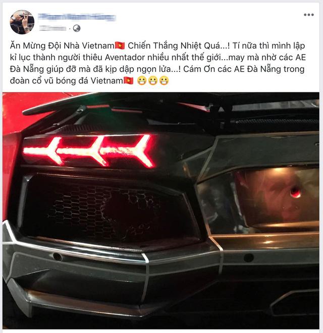 Nẹt pô ăn mừng tuyển Việt Nam chiến thắng, Lamborghini Aventador hàng độc cháy đuôi tại Đà Nẵng - Ảnh 4.