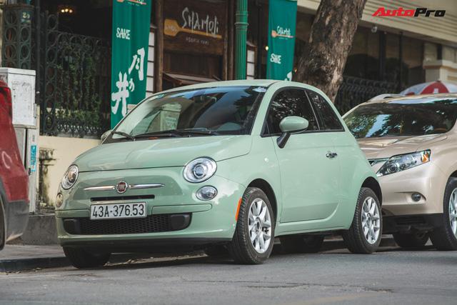 Fiat 500 xanh bạc hà - Xe hiếm chơi màu độc tại Hà Nội - Ảnh 2.