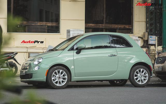 Fiat 500 xanh bạc hà - Xe hiếm chơi màu độc tại Hà Nội - Ảnh 1.