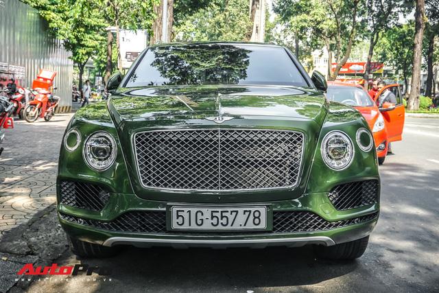 Bentley Bentayga màu xanh lục độc nhất Việt Nam tái xuất trên phố Sài Gòn - Ảnh 1.