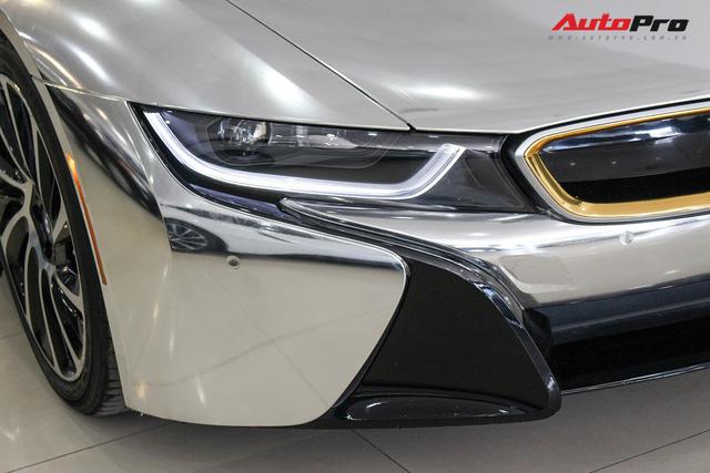 BMW i8 dán decal chrome bạc độc nhất Việt Nam rao bán lại giá 3,9 tỷ đồng - Ảnh 8.
