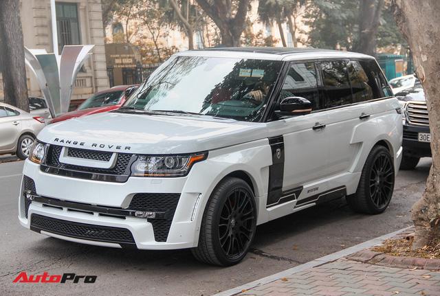 SUV hạng sang Range Rover độ bodykit hầm hố trên phố Hà Nội - Ảnh 1.