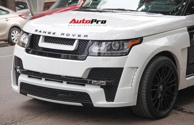 SUV hạng sang Range Rover độ bodykit hầm hố trên phố Hà Nội - Ảnh 9.