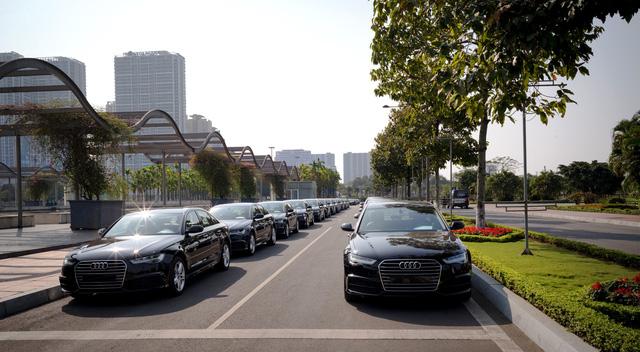 Dàn 70 chiếc xe sang Audi tham gia hai hội nghị lớn tại Hà Nội - Ảnh 3.