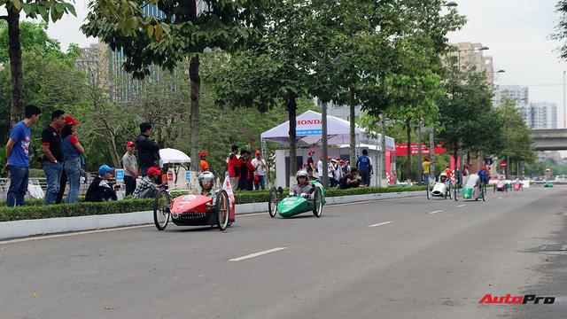 Xe tự chế của sinh viên Việt Nam đi được gần 587 km/lít xăng - Ảnh 1.
