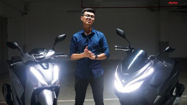 Cùng phân khúc xe ga Honda 150cc: Lựa chọn SH hay PCX?