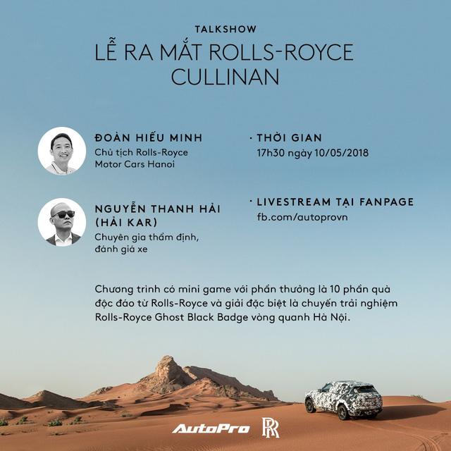 17:30 chiều nay, livestream lễ ra mắt Rolls-Royce Cullinan với người nổi tiếng - Ảnh 1.
