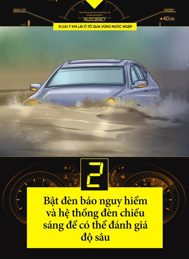 8 lưu ý khi lái xe ô tô qua nước ngập - Ảnh 2.