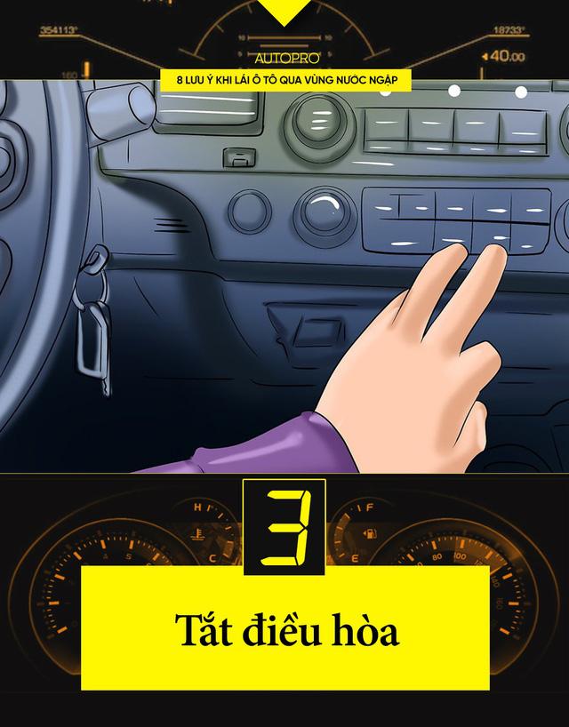 8 lưu ý khi lái xe ô tô qua nước ngập - Ảnh 3.