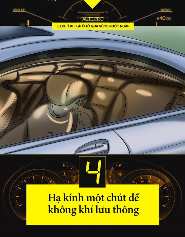 8 lưu ý khi lái xe ô tô qua nước ngập - Ảnh 4.