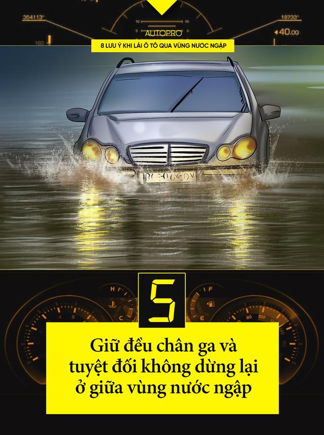 8 lưu ý khi lái xe ô tô qua nước ngập - Ảnh 5.