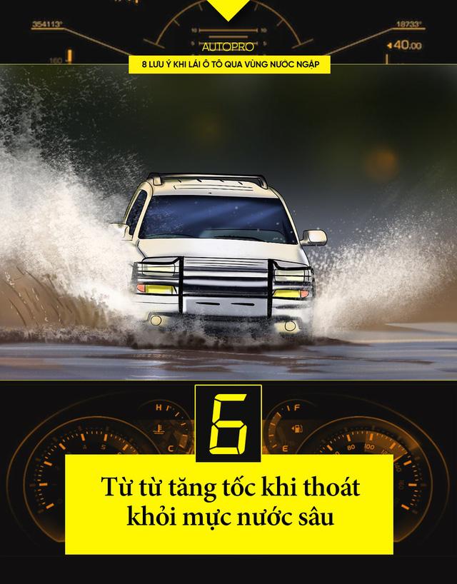 8 lưu ý khi lái xe ô tô qua nước ngập - Ảnh 6.